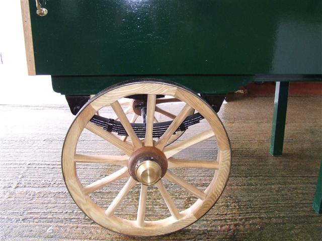 A close up of the wheels. They are fully functional and can carry half a ton each!